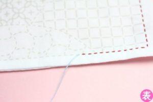 刺し子の糸継ぎ